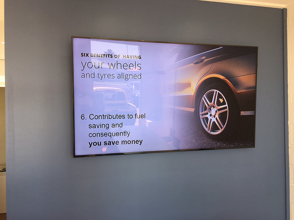 Jax Tyres Screen Wall | Touch Screen Solutions