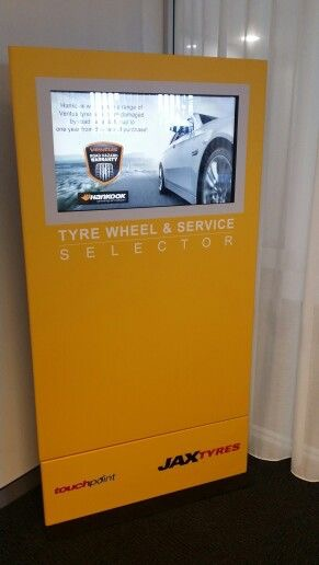 Jax Tyres Kiosk | Touch Screen Solutions