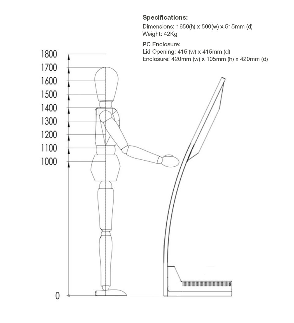 Curvex-Kiosk-dimensions