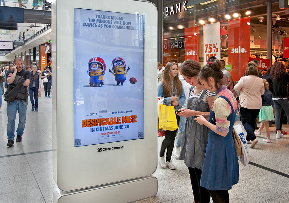 Despicable Me Advertising | Touch Screen Solutions