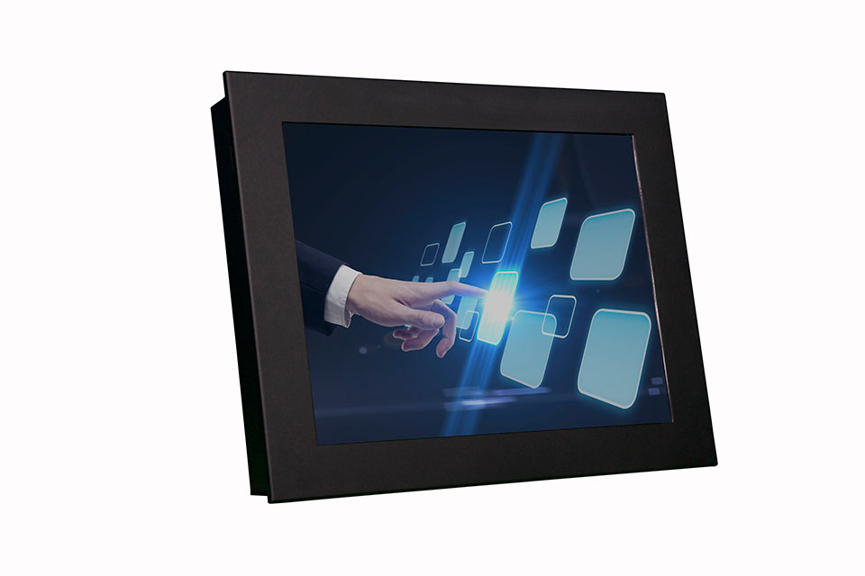 NEX 150 Black Angled White | Touch Screen Solutions