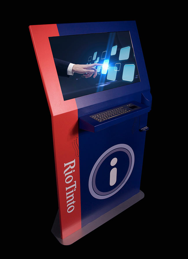 Rio Tinto Miner Kiosk | Touch Screen Solutions